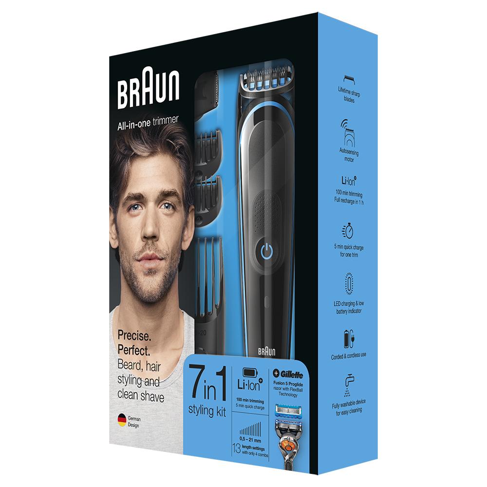 Триммер для стайлинга Braun MGK5045 + Бритва Gillette