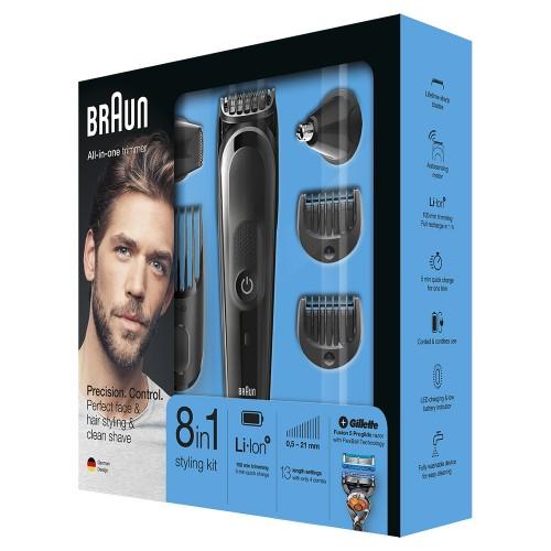 Триммер для стайлинга Braun MGK5060 + Бритва Gillette