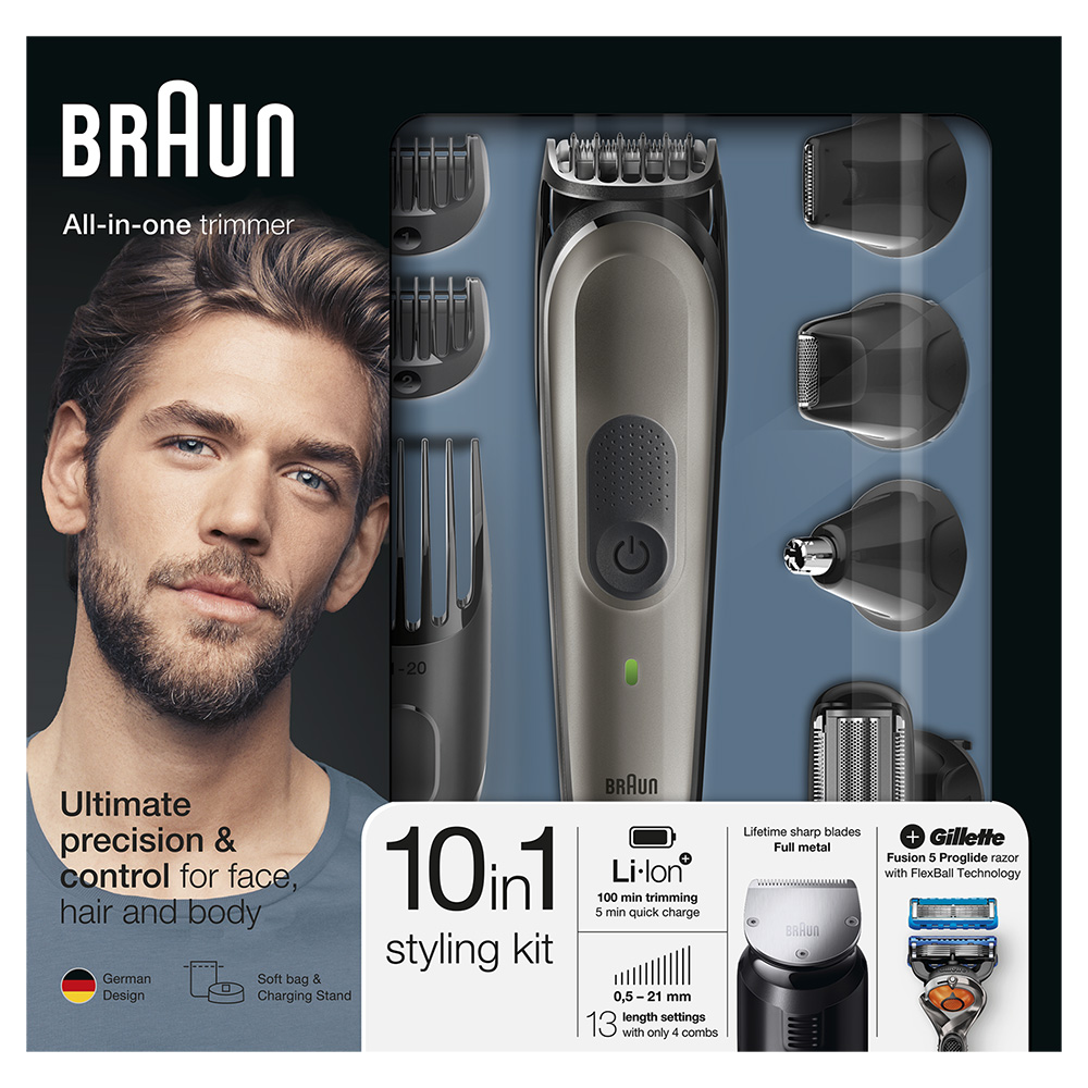 Триммер для стайлинга Braun MGK7021 + Бритва Gillette