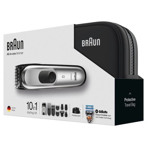 Триммер для стайлинга Braun MGK7920TS + Бритва Gillette