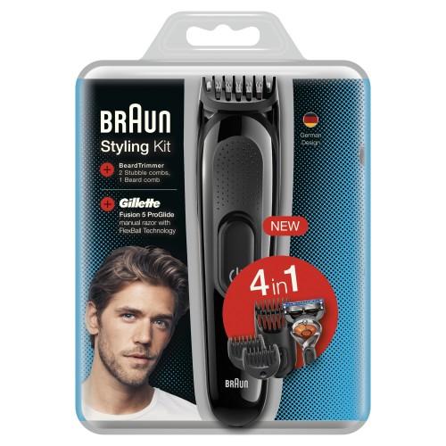 Триммер универсальный Braun SK3000, 4-в-1 + Бритва Gillette