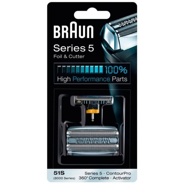 купить Сетка и режущий блок 51S для электробритв Braun Series 5 дешево