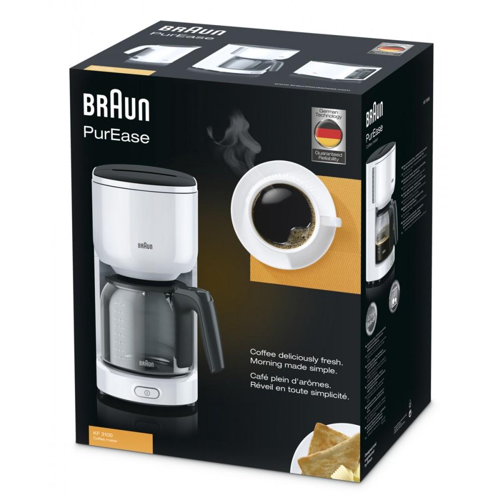 Капельная кофеварка Braun PurEase KF 3120 WH белый