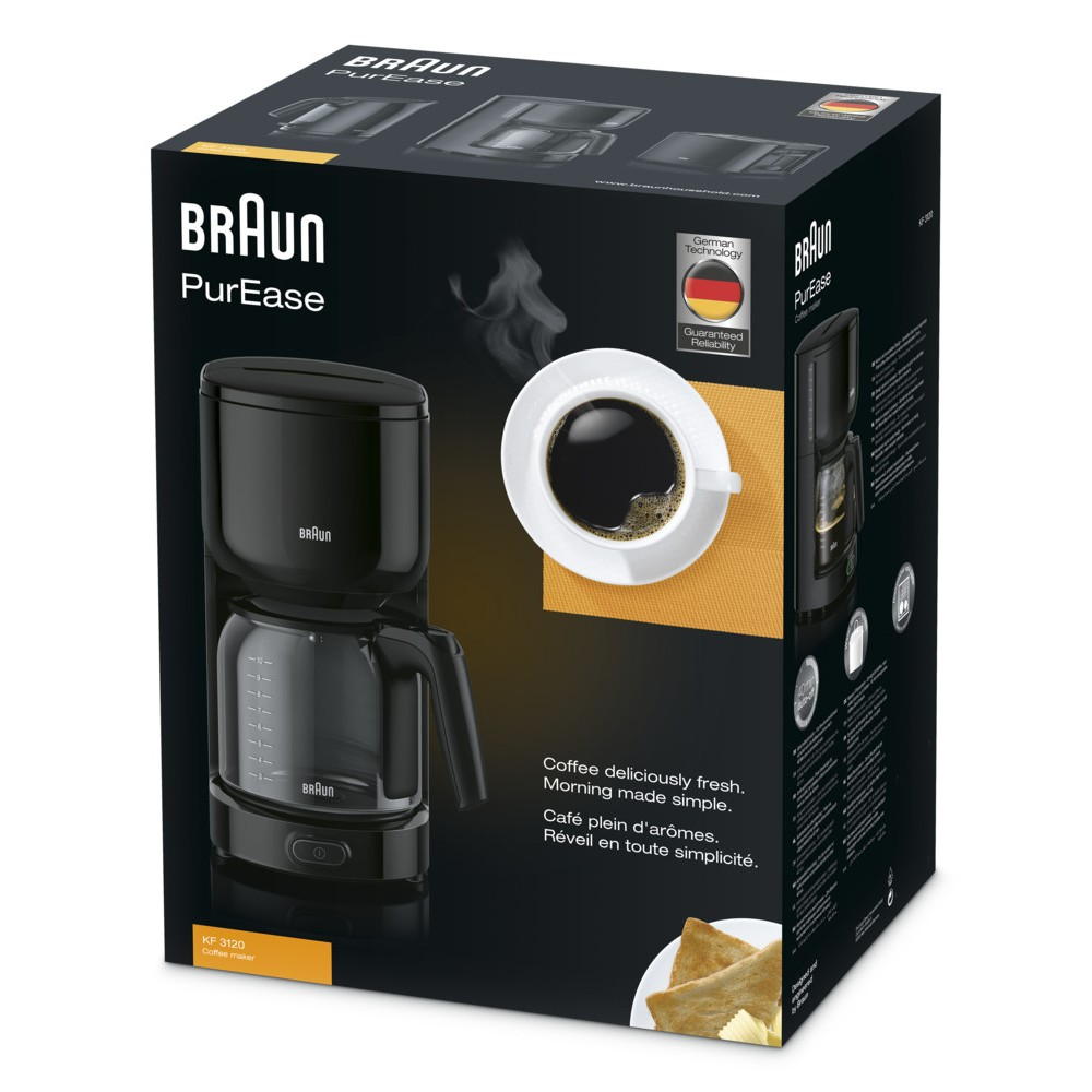 Капельная кофеварка Braun KF 3120 BK чёрная