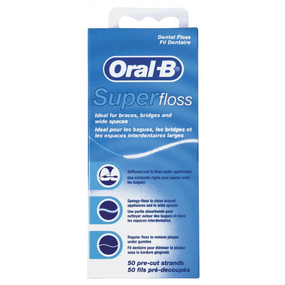 Зубная нить ORAL-B SuperFloss 50м