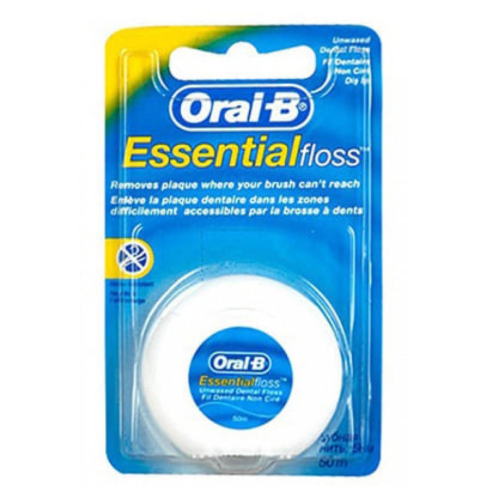 Зубная нить Oral-B EssentialFloss невощеная 50м