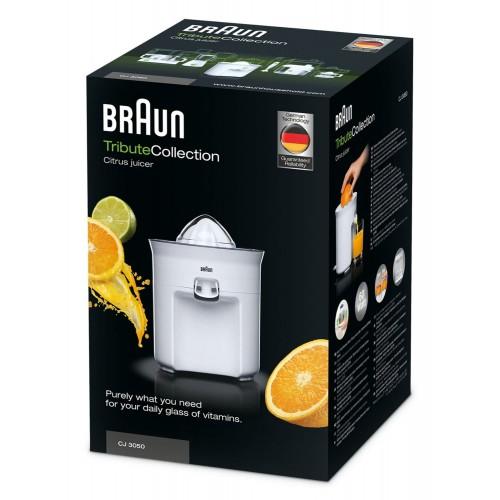 Цитрусовая соковыжималка Braun Tribute CJ3050WH белая
