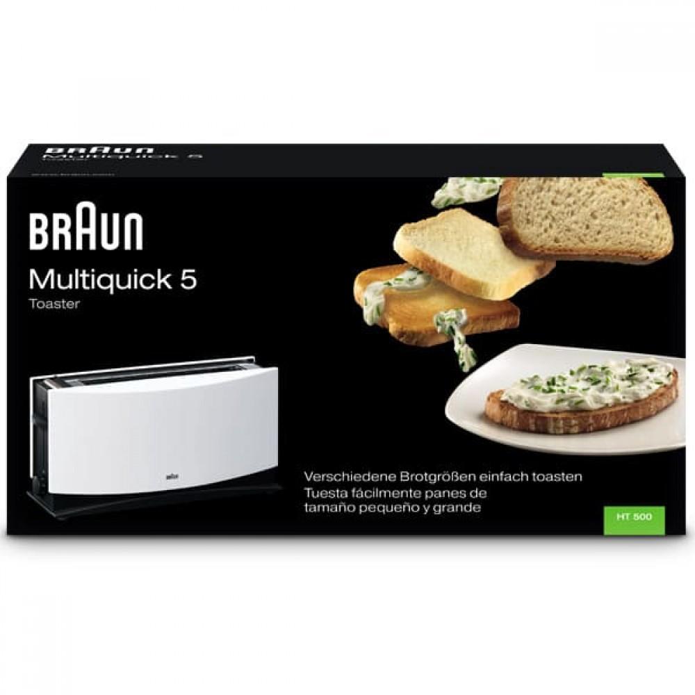 Тостер Braun MultiToast HT500WH белый