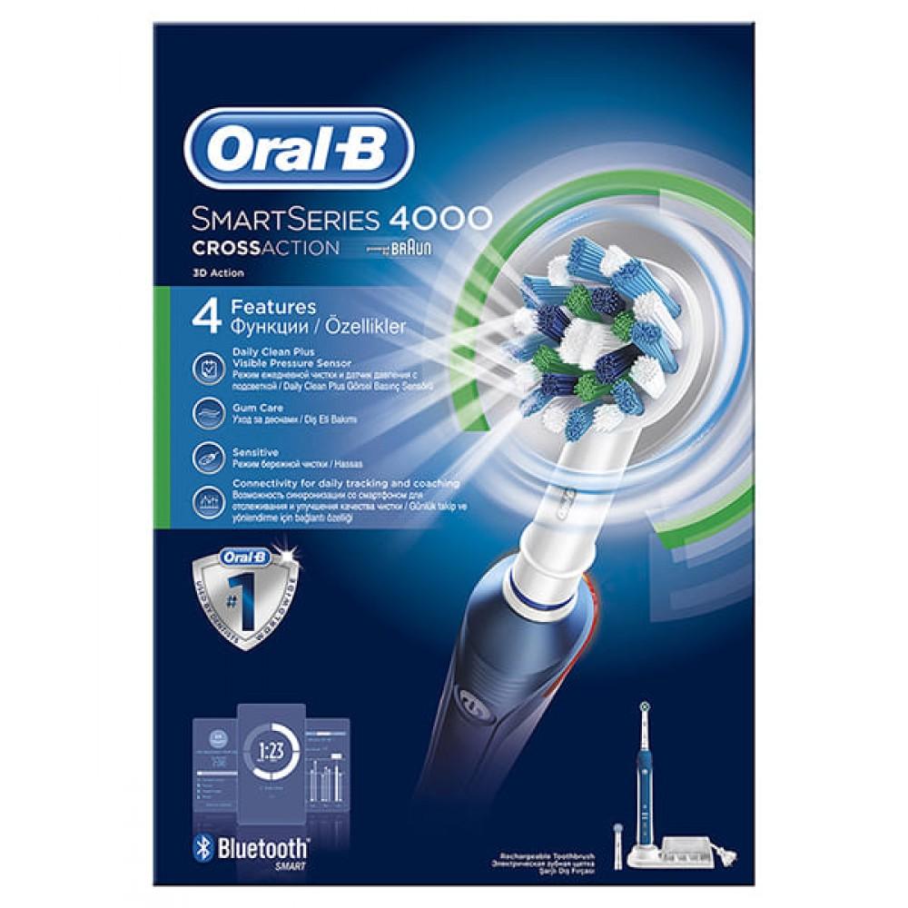 Электрическая зубная щетка Oral-B PRO 4000 SmartSeries D21.525.3M