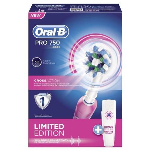 Электрическая зубная щетка Oral-B PRO 750 Pink D16.513.UX + Футляр