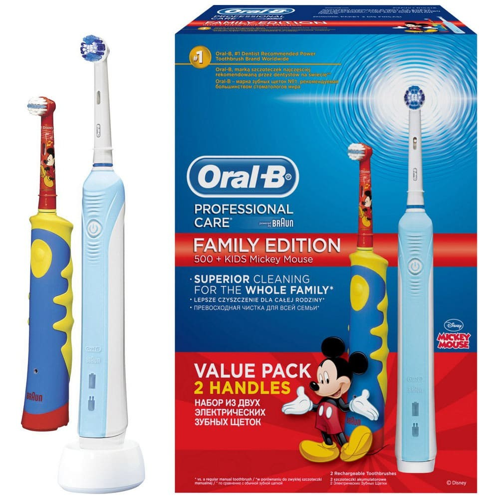 Набор Braun Oral-B Family Pack (Professional Care 500 + Kids D10.513K)
