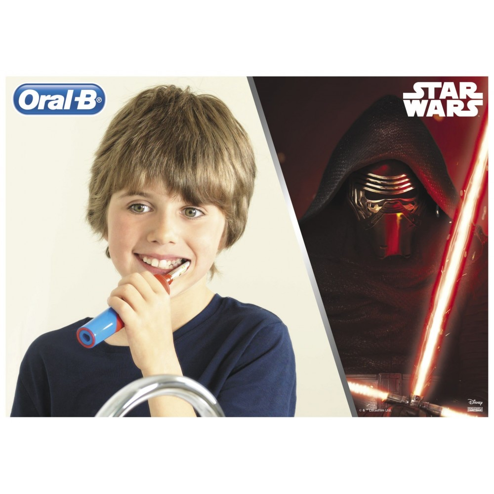 Детская электрическая зубная щетка Oral-B Stages Power StarWars Kids D12.513
