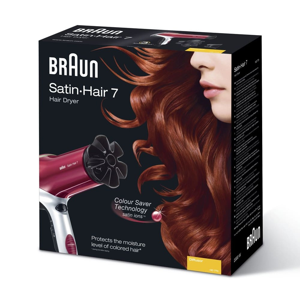 Фен Braun Satin Hair 7 Colour HD770 Diffusor