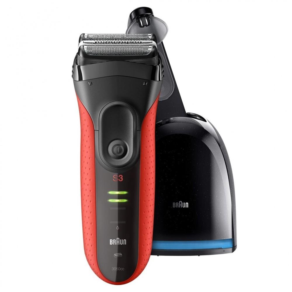 Электробритва Braun Series 3 ProSkin 3050cc Red с блоком Clean&Charge