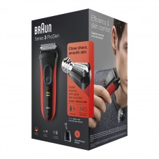 Электробритва Braun Series 3 ProSkin 3050cc Red со станцией Clean&Charge