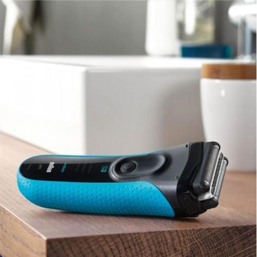 Электробритва Braun Series 3 ProSkin 3040ts Blue + гель Gillette + футляр + нессесер