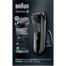 Электробритва Braun Series 3 ProSkin 3050cc Grey со станцией Clean&Charge