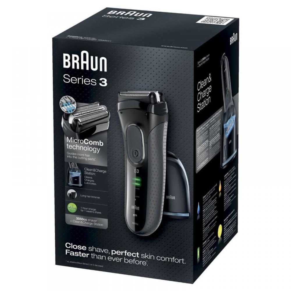 Электробритва Braun Series 3 ProSkin 3050cc с блоком Clean&Charge