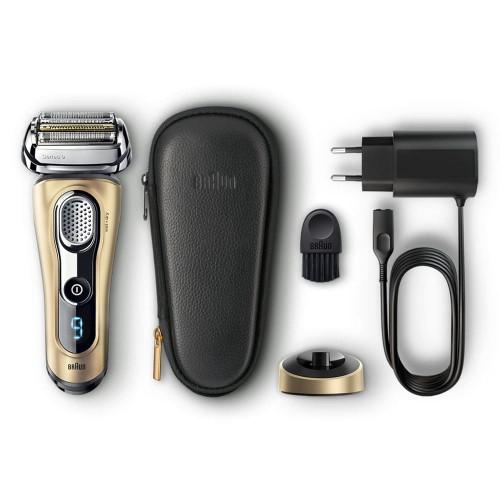 Электробритва Braun Series 9 9299s Gold с зарядной станцией и кожаным футляром