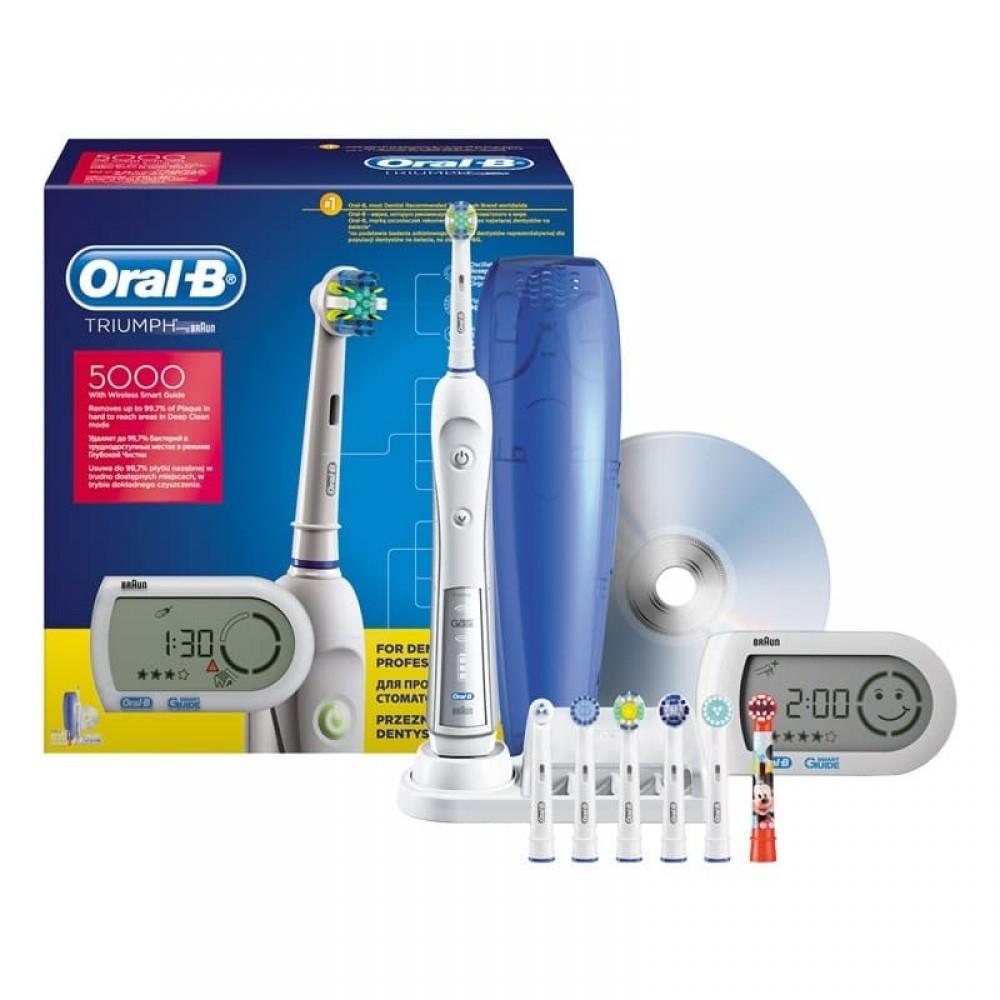 Электрическая зубная щетка Oral-B Triumph 5000 D34.575.5X + SMART GUIDE