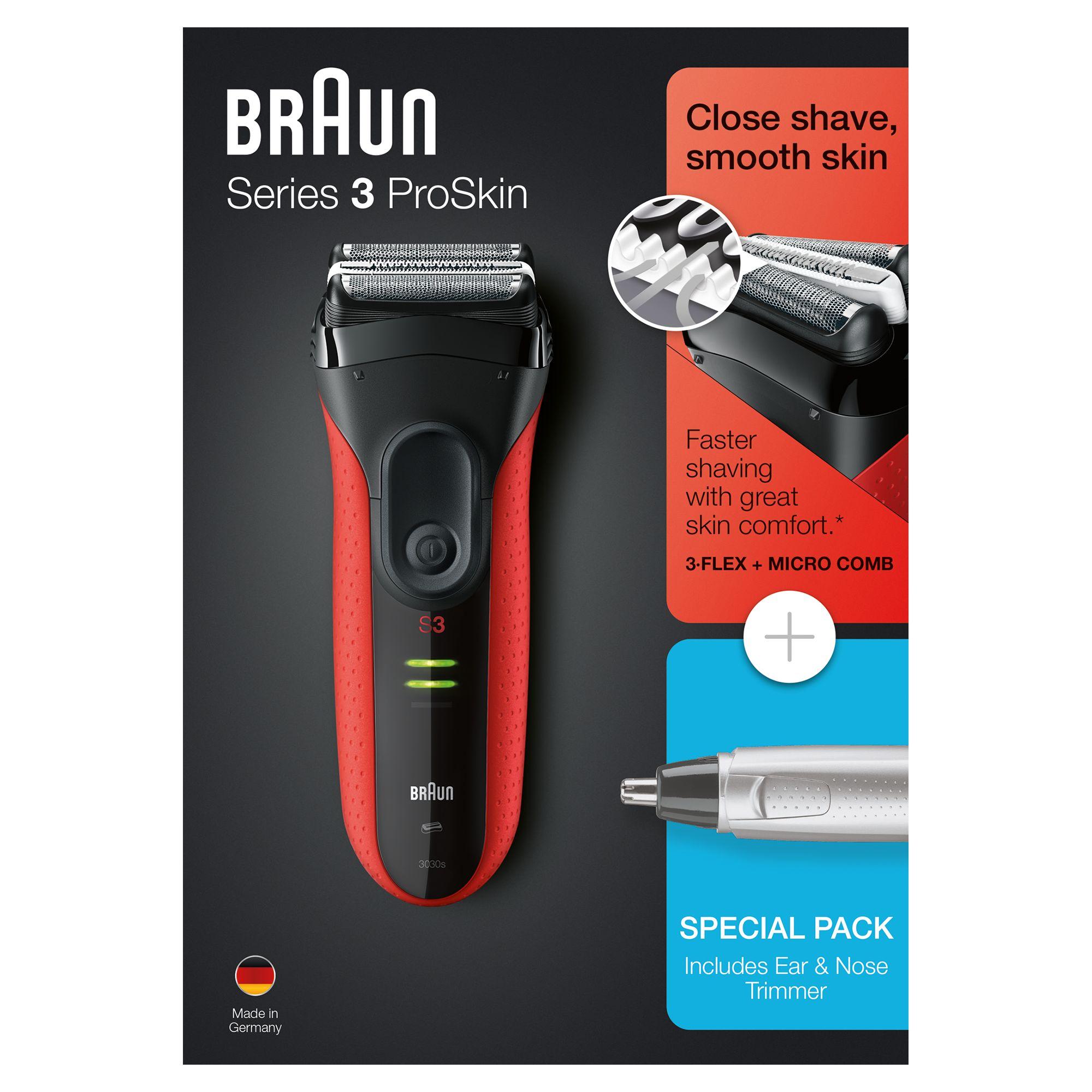 Электробритва Braun Series 3 ProSkin 3030s + Триммер Ear&Nose EN10 цена и фото