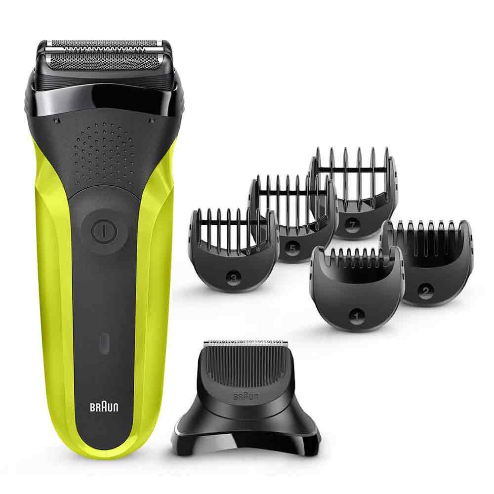Электробритва Braun Series 3 Shave&Style 300bt Green + насадка-триммер и 5 гребней футляр для бритвы braun series 3 5 7