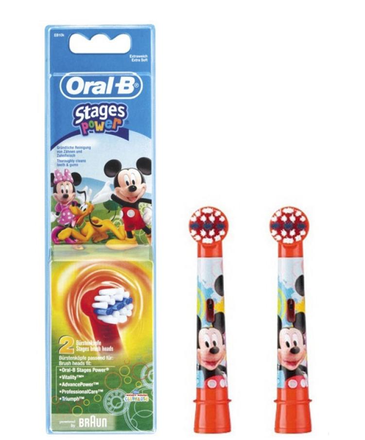 Насадка для зубных щеток Oral-B Stages Kids EB10 Mickey Mouse (2 шт)