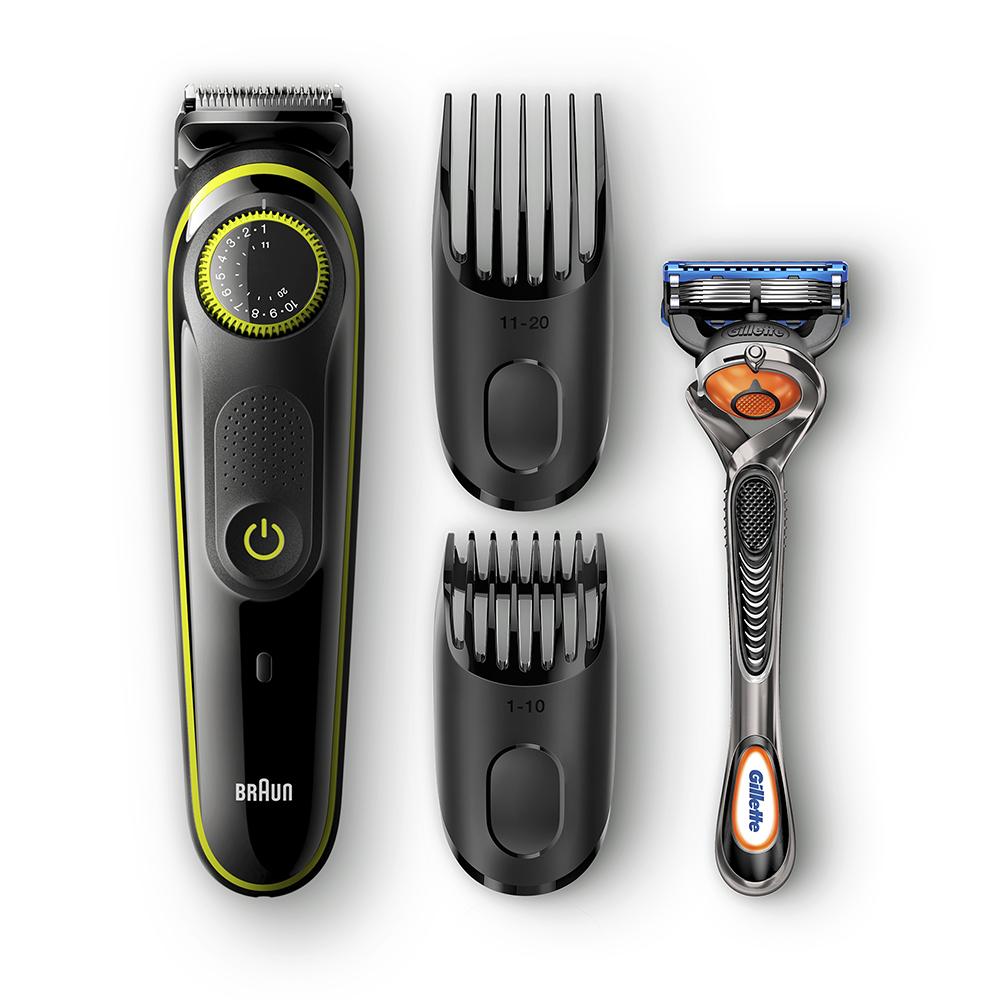 Триммер для бороды Braun BT3041 + Бритва Gillette фото