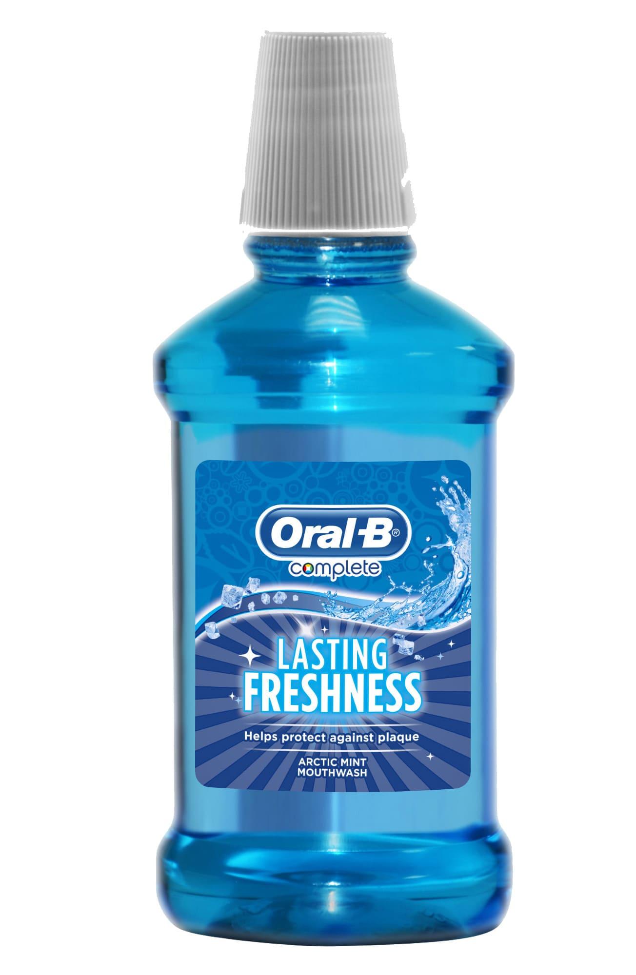 Ополаскиватель для полости рта Oral-B Комплекс Lasting Freshness Arctic Mint 250мл цены
