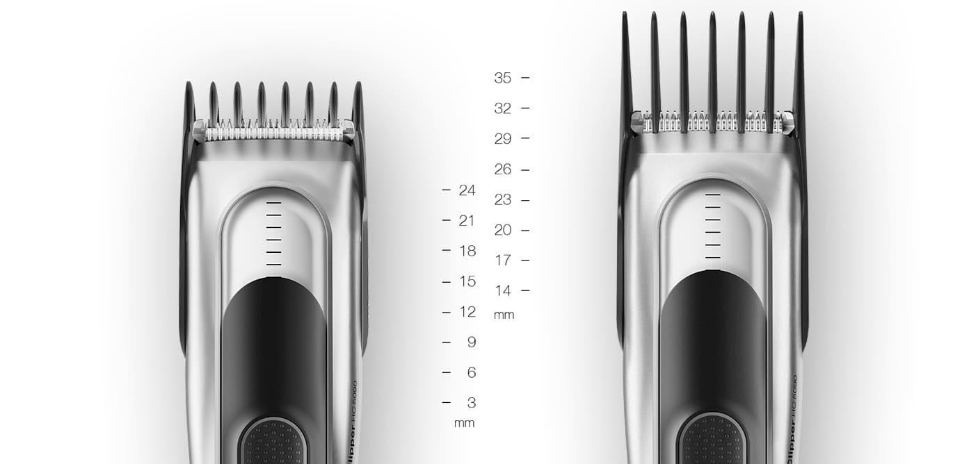 Насадки для стрижки волос размеры